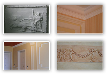 Produzione di stucchi in gesso decorazione d 39 interni a - Stucchi decorativi per interni ...
